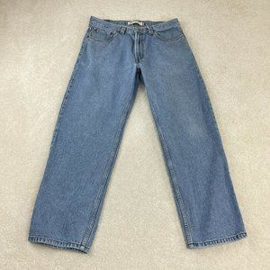 Levi's 550 Relaxed Fit Jeans 35x30 Blue Straight